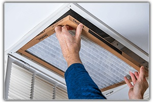 CLEANING & MITIGATION: installing the clean air filter